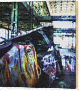 Graffiti Car Wood Print