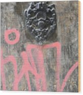 Graffiti Door Knocker Wood Print