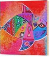 Graffiti Fish Wood Print