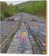 Graffiti Highway, Facing South Wood Print