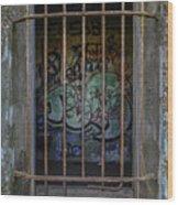 Graffiti Is Barred Wood Print