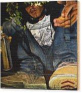 Graffiti Man Wood Print
