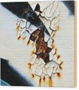 Graffiti Texture II Wood Print