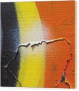 Graffiti Texture Iv Wood Print by Ray Laskowitz - Printscapes