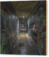 Graffiti Tunnel Wood Print