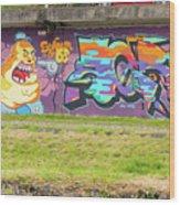 Graffiti Under A Bridge Wood Print