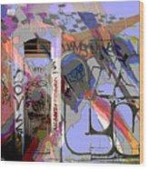 Graffitis Front Door Wood Print