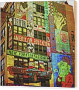 Graffitti On New York City Building Wood Print