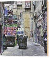 Grafitti Alley Wood Print
