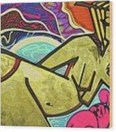 Grafitti Curves Wood Print