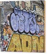 Grafitti Downunder 2 Wood Print