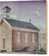 Grafton Church Side Old Look Wood Print