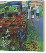 Grafton Farmer's Market Wood Print