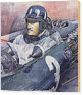 Graham Hill Brm P261 1965 Wood Print