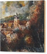 Graide Village Belgium Wood Print
