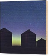 Grain Bin Skyline Wood Print
