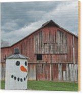 Grain Bin With Smile Wood Print