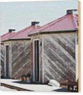 Grain Bins Color Wood Print