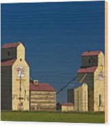 Grain Elevators Wood Print