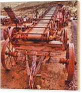 Grain Sack Loader Wood Print