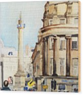 Grainger Monument. Newcastle Upon Tyne Wood Print