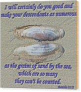 Grains Of Sand Wood Print
