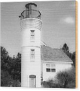 Grainy Lighthouse Wood Print