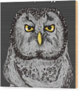 Grammar Owl Is Judging You Wood Print