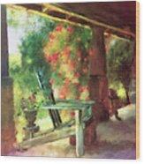 Gramma's Front Porch Wood Print