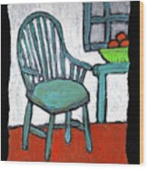Grampa's Empty Chair Wood Print