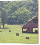 Grampa's Summer Barn Wood Print