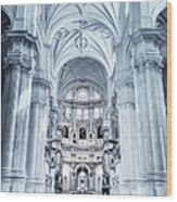 Granada Cathedral Interior Wood Print