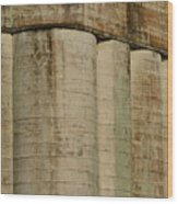 Granary Silos With Window Wood Print