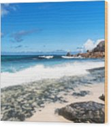 Grand Anse Beach Wood Print