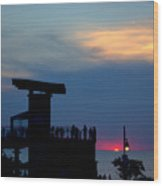 Grand Bend Silhouettes Wood Print
