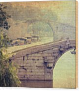Grand Canal Bridge Suzhou Wood Print