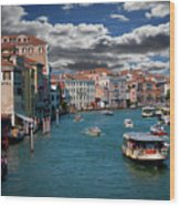 Grand Canal Daylight Wood Print