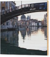 Grand Canal In Venice At Sunrise Wood Print