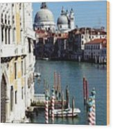 Grand Canal In Venice From Accademia Bridge Wood Print by Michael Henderson