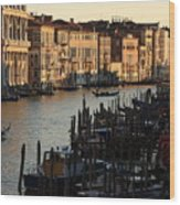 Grand Canal In Venice From The Rialto Bridge Wood Print