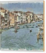 Grand Canal In Venice Wood Print