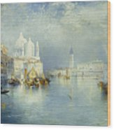 Grand Canal Venice Wood Print by Thomas Moran