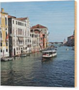 Grand Canal View At The Academy Bridge Wood Print