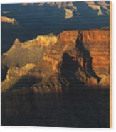 Grand Canyon Arizona Light And Shadow 2 Wood Print