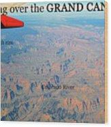 Grand Canyon Flight Wood Print