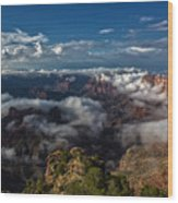 Grand Canyon Fog Wood Print