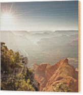 Grand Canyon From Mohave Point Wood Print