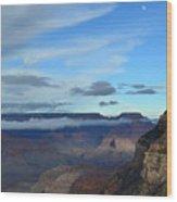 Grand Canyon Moonrise Wood Print