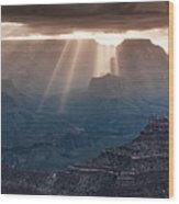 Grand Canyon Morning Light Show Pano Wood Print