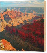 Grand Canyon National Park Sunset On North Rim Wood Print